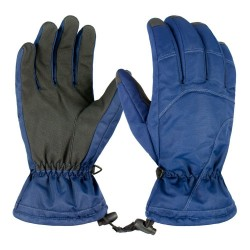 Durable Nylon Fabric PU Synthetic Leather Ski Gloves Waterproof Windproof Snowboarding Gloves