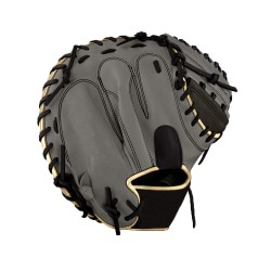 Hot sale best quality Catcher's mitt gray with black kip leather full custom baseball