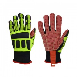 Anti-skid PVC dots on palm protection operation oilfield mechanic gloves