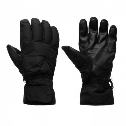 Mens ski gloves soft shell fleece warm lightweight winter snowboarding gloves