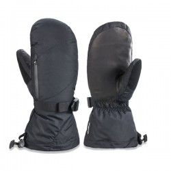 Outdoor women's winter ski mitts leather ski mittens waterpoof mitts