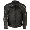 Men's Combo Black Armored Leather/Textile/Mesh Jacket