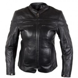 Ladies Black Cowhide Leather Jacket