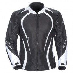 Womens Black/White Textile Jacket