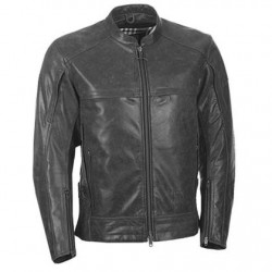 Men's Vintage Gunmetal Leather Jacket