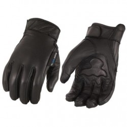 Men's Gel Palm Leather Gloves with Touch Screen Fingers