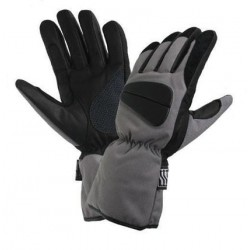 Men's Black/Grey Tri-Tex Fabric Padded/Waterproof Gloves