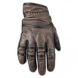 Mens Distressed Dark Brown Leather Gloves