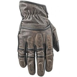 Distressed Men's Olive Leather Gloves