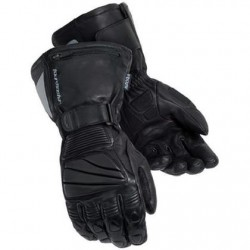 Mens Black Leather Winter Gloves
