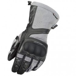 Men's Black/Hi-Viz Yellow Textile/Leather Gloves