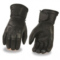 Men's Leather Thermal Lined Gauntlet Glove