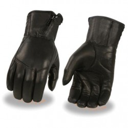 Men's Premium Leather Long Wristed Glove with Zipper Top