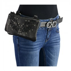 Women Leather Multi Pocket Belt Bag