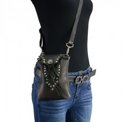 Women Leather Drop Set Belt Bag