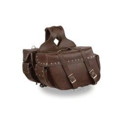 Antique Brown Zip-Off PVC Saddle Bag