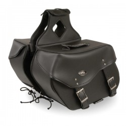 Large Zip-Off PVC Throw Over Saddle Bag