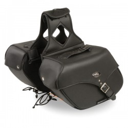 Medium Zip-Off Single Strap PVC Throw Over Saddle Bag