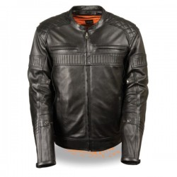 Men's Quilted Pattern Triple Vent Scooter Jacket