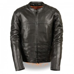 Men's Assault Style Racer Jacket w/ Triple Side Straps