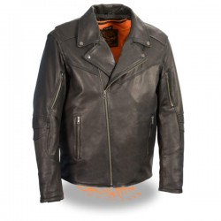 Men's Lightweight Triple Stitch Extra Long Beltless Biker Jacket
