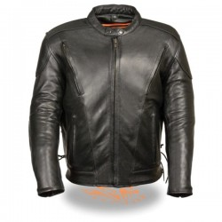 Men's Side Lace Vented Scooter Jacket-Tall