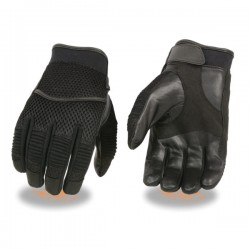 Men's Mesh Racing Gloves w/ Leather Palm