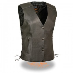 Women's Side Lace Vest w/ Reflective Piping