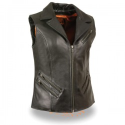 Women's Long Zipper Front Vest