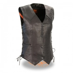 Women's Lightweight Side Lace Four Snap Vest