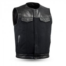 Canvas (no collar) | Men's Motorcycle Vest
