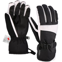 Women's Winter Gloves with Non-Slip PU Palms for Skiing