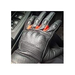 Motorcycle Biker Gloves Black Premium Leather