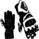 Motorcycle Gloves Premium Full Leather Gauntlet Race Hard Knuckle Gloves