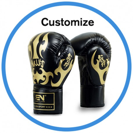 Custom Designs Adult Professional Fitness Sparring Fighting PU Boxing Gloves