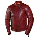 Men's Oxblood Leather Jacket