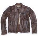 Panther Tobacco Leather Jacket