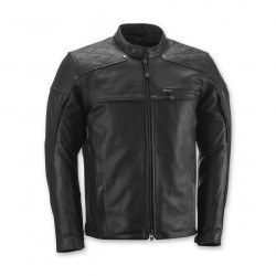 Highway ruta 66 Men's Panther Black Leather Jacket