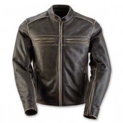 Women's Vintage Black Leather Jacket