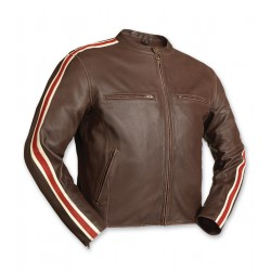 Men's Panther Brown Leather Jacket