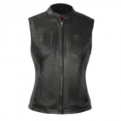 Womens Motorcycle Leather Vest